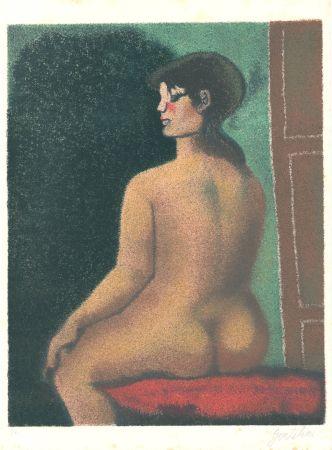 リトグラフ Gentilini - Nude