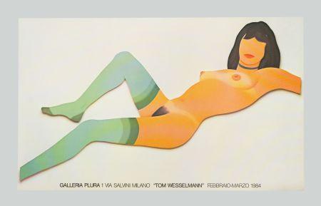 リトグラフ Wesselmann - Nude