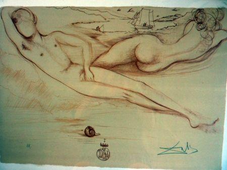 リトグラフ Dali - Nude At The Beach   From