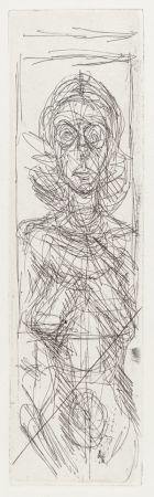彫版 Giacometti - Nude In Profile