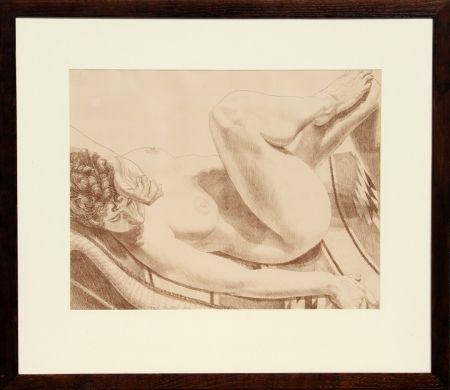 リトグラフ Pearlstein - Nude on Chair