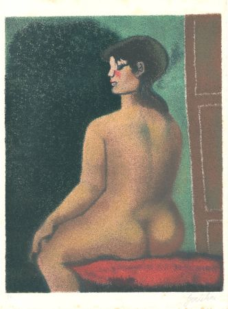 リトグラフ Gentilini - Nudo di Luisa