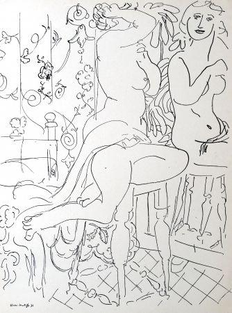 リトグラフ Matisse - Nue dans le miroir