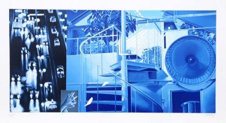 リトグラフ Monory - Nuit No. 5