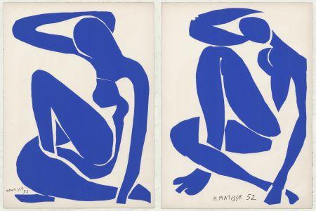 リトグラフ Matisse - Nus Bleus III et IV (1958)