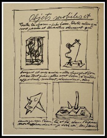 リトグラフ Giacometti - OBJETS MOBILES ET MUETS I