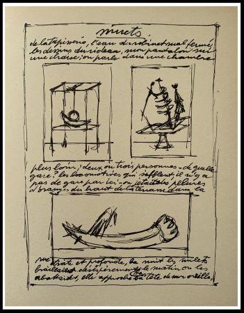 リトグラフ Giacometti - OBJETS MOBILES ET MUETS II