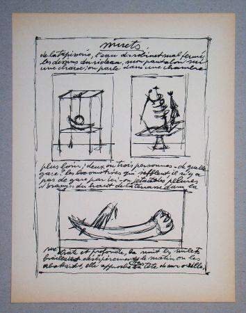 リトグラフ Giacometti - Objets mobiles et muets Part II.