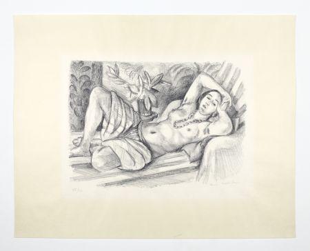 リトグラフ Matisse - Odalisque Au Magnolia
