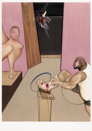 リトグラフ Bacon - Oedipe et le Sphinx after Ingres
