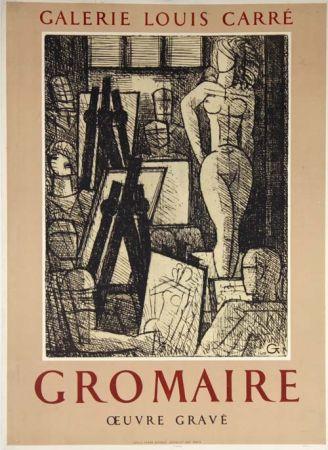 掲示 Gromaire - Oeuvre Gravé Galerie Louis Carré