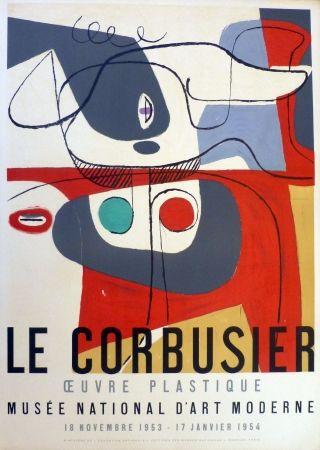 リトグラフ Le Corbusier - Oeuvre plaastique, musée national d'art  moderne de la ville de Paris
