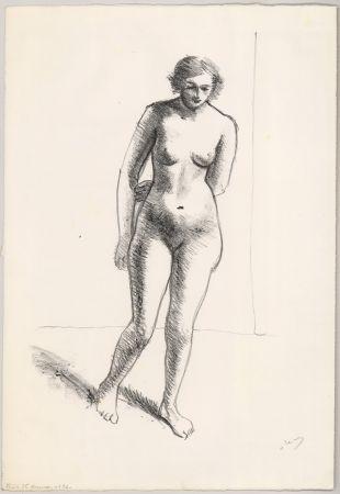 リトグラフ Derain - Ohne Titel (Nu, le bras replié derrière le dos)