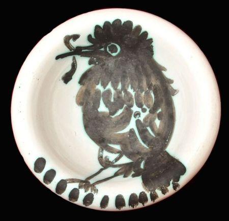 セラミック Picasso - Oiseau au ver
