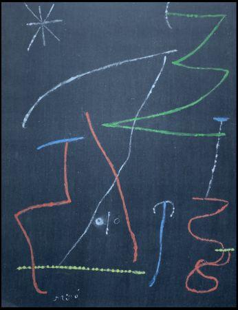ステンシル Miró - Oiseau dans la nuit