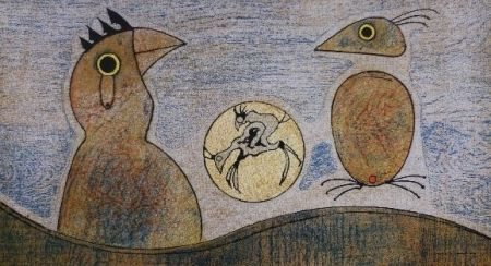 リトグラフ Ernst - Oiseaux