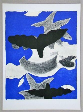 リトグラフ Braque (After) - Oiseaux