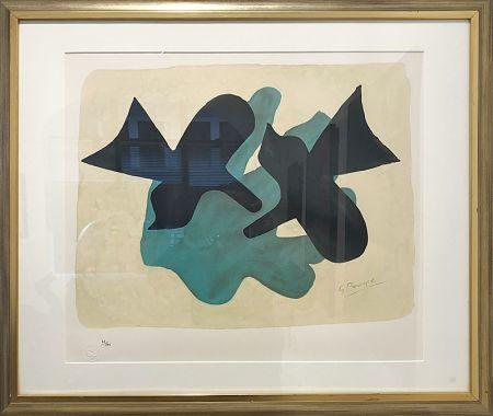 リトグラフ Braque - Oiseaux