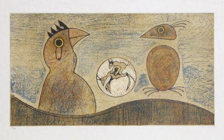 リトグラフ Ernst - Oiseaux Souterrains