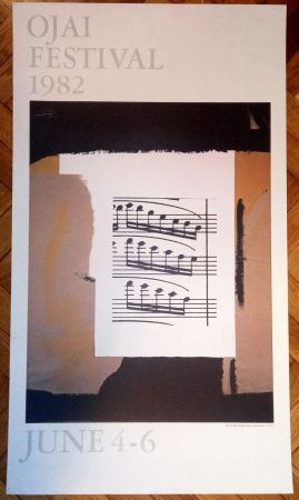 掲示 Motherwell - Ojai festival (poster) , 1982