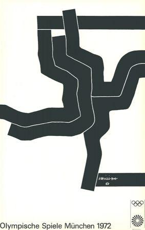 リトグラフ Chillida - Olympische Spiele München 1972