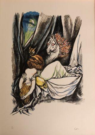 リトグラフ Guttuso - Omaggio a Henry Fuseli