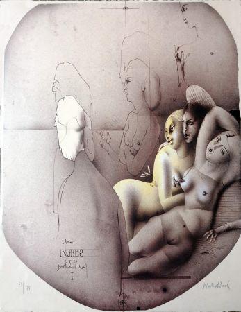 リトグラフ Wunderlich - Omaggio a Ingres