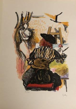 リトグラフ Guttuso - Omaggio a Jan Vermeer
