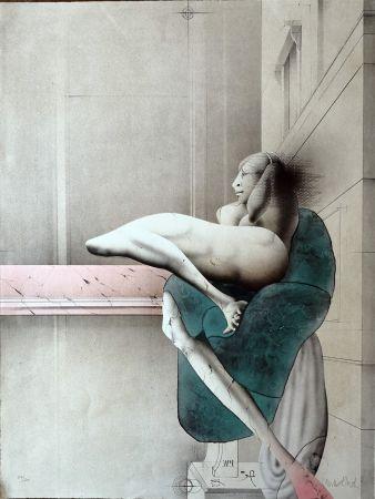 リトグラフ Wunderlich - Omaggio a Michelangelo