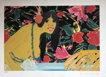 シルクスクリーン Fiume - Omaggio alla Polinesia
