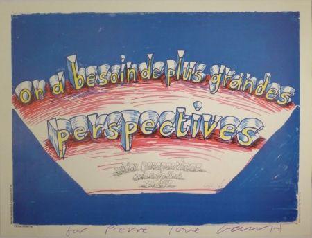 """オフセット Hockney - """"on a besoin de plus grandes perspectives / wider perspectives are needed now"""""""