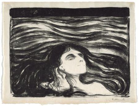 リトグラフ Munch - On the waves of love