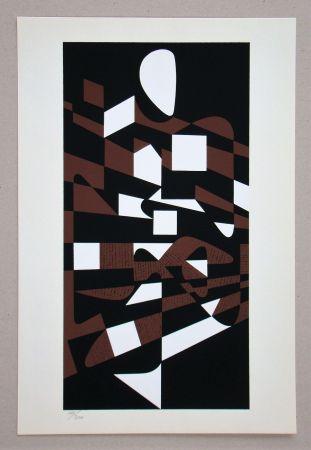 シルクスクリーン Vasarely - Onega II.