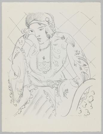リトグラフ Matisse - Orientale à la croix trifoliée