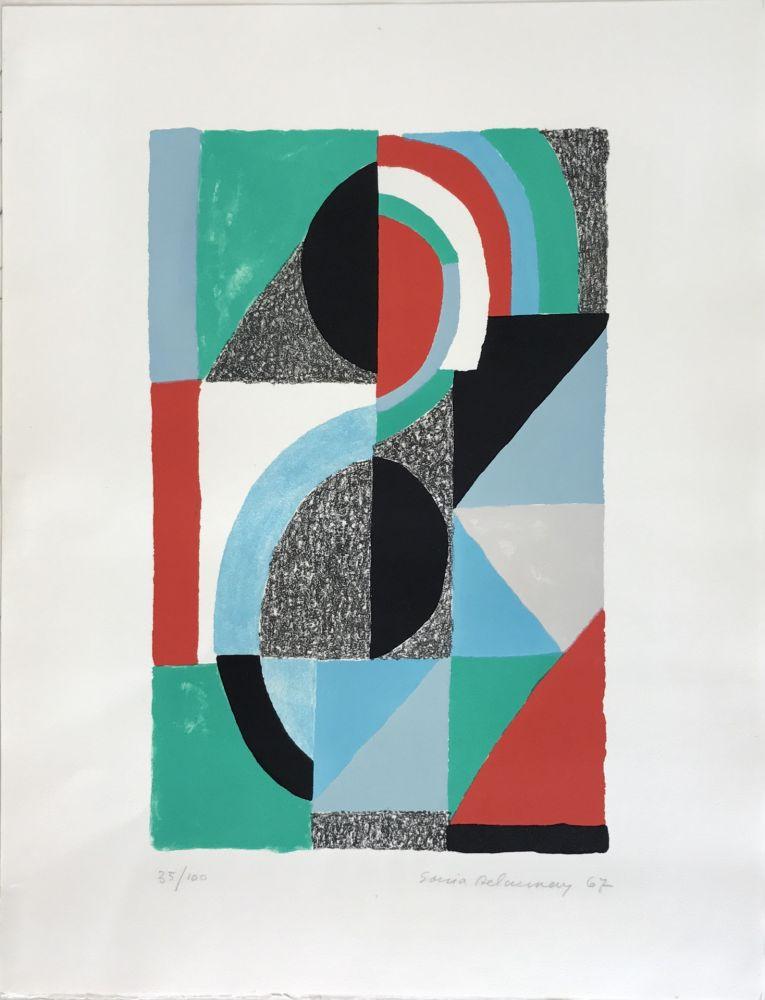 リトグラフ Delaunay - Oriflamme 1967