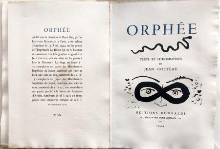 挿絵入り本 Cocteau - ORPHÉE. avec 41 LITHOGRAPHIES ORIGINALES DE JEAN COCTEAU (1944)