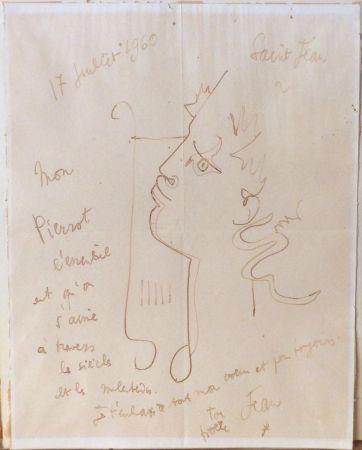 技術的なありません Cocteau - Orphée à la lyre. Dessin signé