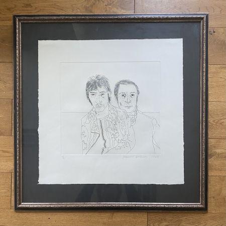 彫版 Hockney - Ossie and Mo