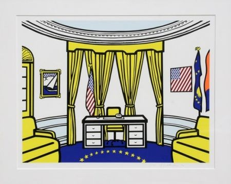 シルクスクリーン Lichtenstein - Oval Office
