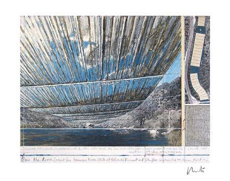 リトグラフ Christo - Over The Arkansas River, Project U