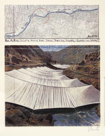 オフセット Christo - Over The River I, Above