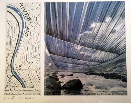 掲示 Christo - Over the river (Project for Arkansas River) Signed