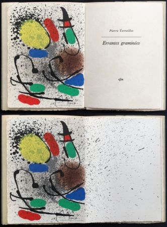 挿絵入り本 Miró - P. Torreilles : ERRANTES GRAMINÉES. Lithographie originale signée (1971).
