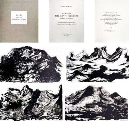 挿絵入り本 Siqueiros - Pablo Neruda: POEMS. EL CANTO GENERAL avec 10 LITHOGRAPHIES SIGNÉES (1968).