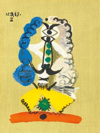 リトグラフ Picasso - Pablo Picasso- Portrait Imaginaires 12.3.69 II