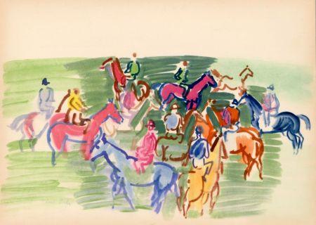 ステンシル Dufy - PADDOCK (1930) de l'album : Douze Contemporains par J. Lassaigne (1959)
