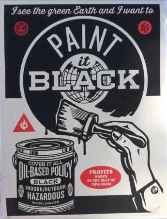 シルクスクリーン Fairey - Paint it black