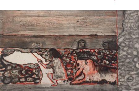 エッチング Doig - Painting a Cloud on the Wall