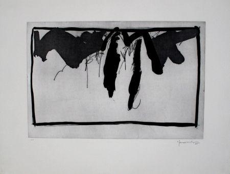 エッチングと アクチアント Hernandez Pijuan - Paisatge Amb Xiprers Ii / Landscape With Cypresses Ii