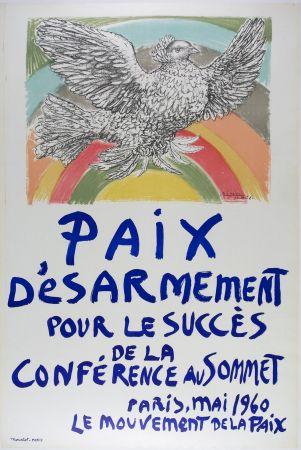 リトグラフ Picasso - Paix D'Esarmement